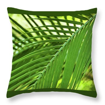 Throw Pillow featuring the photograph Leaf Abstraction IIi by Leda Robertson