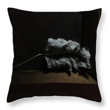 Throw Pillow featuring the photograph Leaf And Frame by Attila Meszlenyi