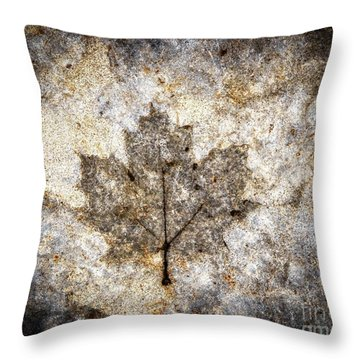 Leaf Imprint Throw Pillow