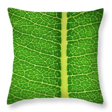 Leafy Detail Throw Pillow