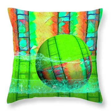 Learning To Swim Throw Pillow