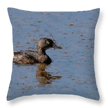 Least Grebe Throw Pillow