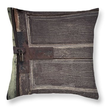 Leather Door Throw Pillow