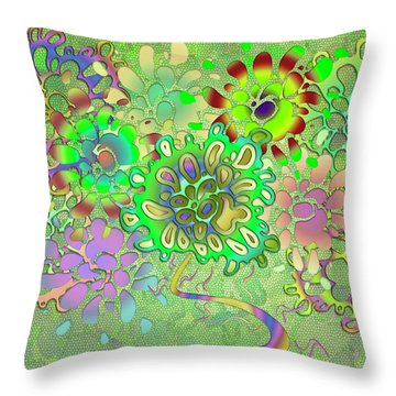 Leaves Remix Throw Pillow