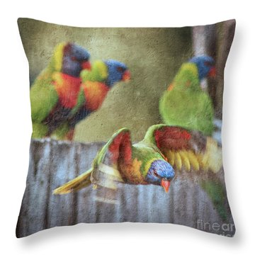 Leaving The Party Throw Pillow