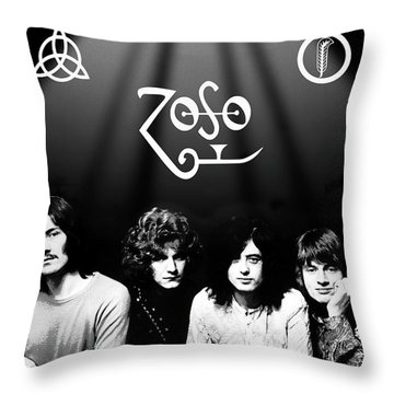 Led Zeppelin Band Tribute Throw Pillow