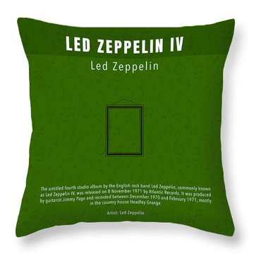 Led Zeppelin Iv Led Zeppelin Greatest Albums Of All Time Minimalist Series Throw Pillow