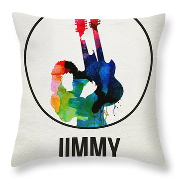 Led Zeppelin Watercolor Throw Pillow