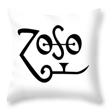 Led Zeppeling Z O S O - T-shirts Throw Pillow