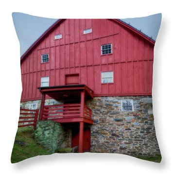 Lee's Merchant Mill Side View Pano Throw Pillow