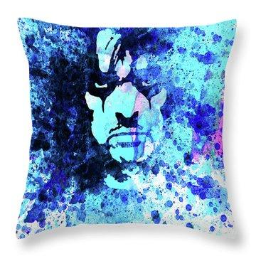 Legendary Alice Cooper Watercolor Throw Pillow
