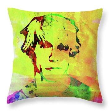 Legendary Anthony Kiedis Watercolor Throw Pillow