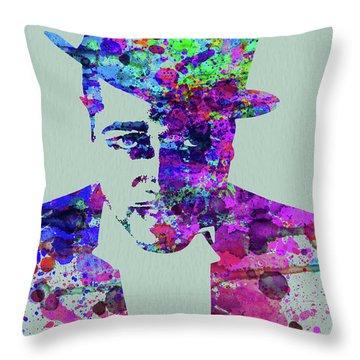 Legendary Duke Ellington Watercolor Throw Pillow