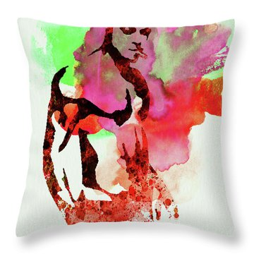 Legendary Fight Club Watercolor Throw Pillow