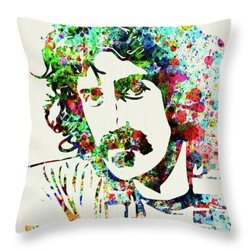 Legendary Frank Zappa Watercolor Throw Pillow