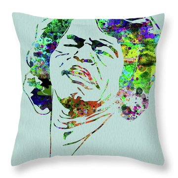 Legendary James Brown Watercolor Throw Pillow