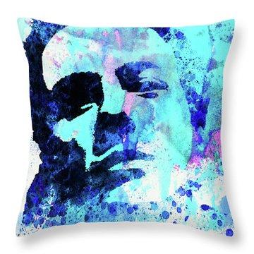 Legendary Joe Strummer Watercolor Throw Pillow