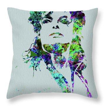 Legendary Michael Watercolor Throw Pillow