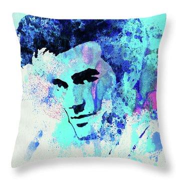 Legendary Morrissey Watercolor Throw Pillow