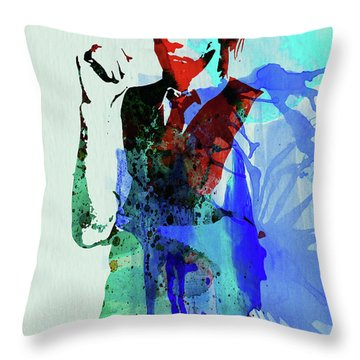 Legendary Nick Cave Watercolor Throw Pillow