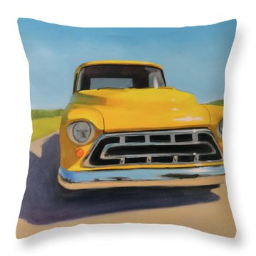 Lemon Drop Martini Throw Pillow