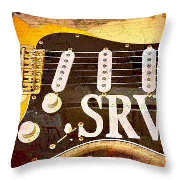 Lenny Stevie Ray Vaughans Guitar Throw Pillow