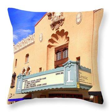 Lensic Performing Arts Center Throw Pillow