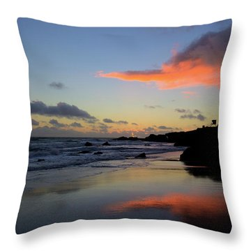 Leo Carrillo Sunset II Throw Pillow