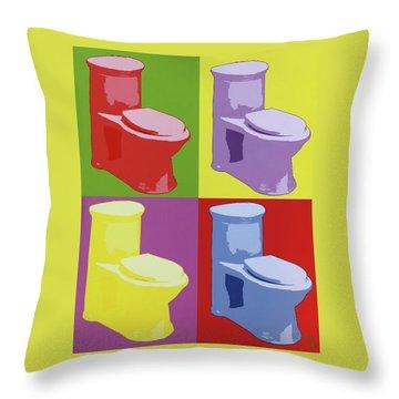 Les Toilettes  Throw Pillow