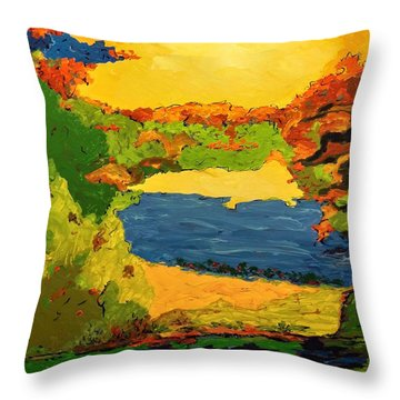 Throw Pillow featuring the painting Lesson From Nature by Ray Khalife
