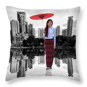 Let The City Be Your Stage Throw Pillow