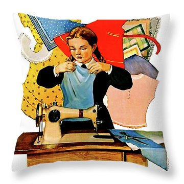 Lets Learn Throw Pillow