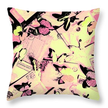 Letter Nests Throw Pillow