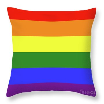 Lgbt 6 Color Rainbow Flag Throw Pillow