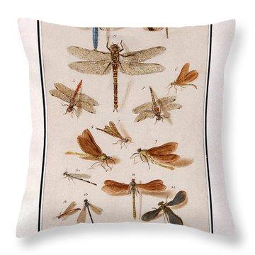 Libellen Throw Pillow