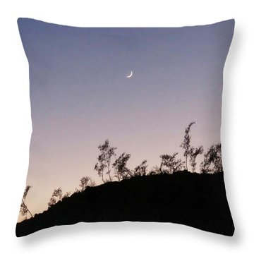 Libra Twilight Crescent Throw Pillow