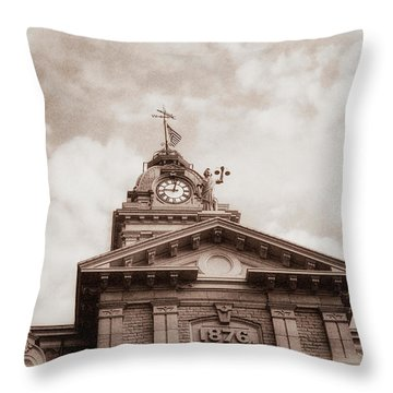 Licking County Courthouse Throw Pillow