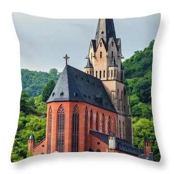 Liebfrauenkirche Oberwesel Throw Pillow