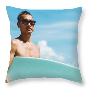 Young Man Throw Pillows