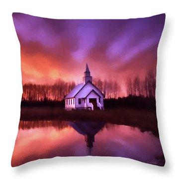 Light In The Dark - Hope Valley Art Throw Pillow