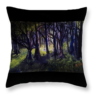 Light In The Forrest Throw Pillow
