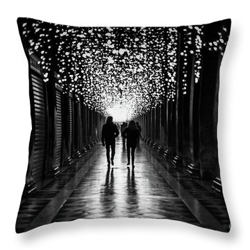 Light, Shadows And Symmetry Throw Pillow