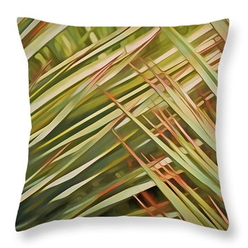 Throw Pillow featuring the mixed media Light Touch 12  by Lynda Lehmann