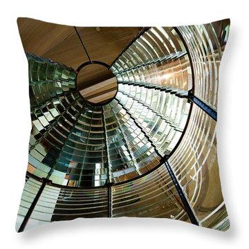 Lighthouse Lens Interior Lewis Throw Pillow