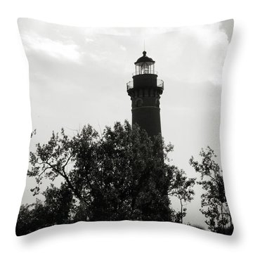 Throw Pillow featuring the photograph Lighthouse by Michelle Wermuth