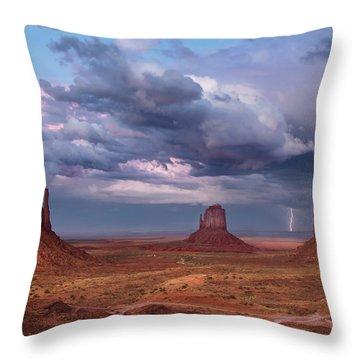 Lightning Across The Valley    Throw Pillow