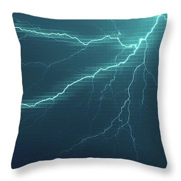 Lightning Grid Throw Pillow