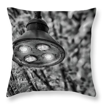 Lights In Town Throw Pillow