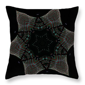 Lights Within A Star Throw Pillow