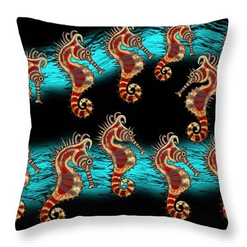 Like Musical Notes Upon The Sea Throw Pillow